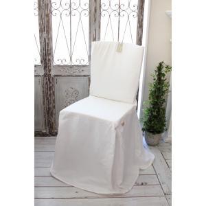 Blanc Mariclo ブランマリクロ Basicコレクション チェアカバー (リボンタイプ・ホワイト) チェアパッド シャビーシック アンティーク風 アンティーク 雑貨|style-rococo