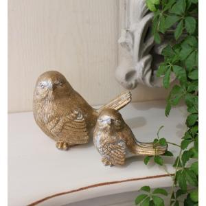 スタイルロココ ペアの愛らしいバードオブジェ・2個セット 鳥置物 バード 鳥モチーフ 輸入雑貨 アンティーク調 アンティーク 雑貨 antique