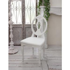 スタイルロココ アンティークなダイニングチェア ホワイト・木座 椅子 カントリーコーナー 【Country Corner】 Gustavienコレクション ダイニングチェア アンティーク 木製 チェア フレンチカントリー アンティークホワイト 白 アンティーク風 フランス 送料無料