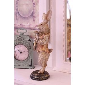 バロッククロック・ラビット ウサギの置時計 置物 シャビー 北欧 フレンチ ロマンティック 可愛い ロココ調 輸入雑貨|style-rococo|03