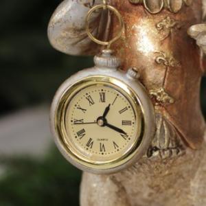 バロッククロック・ラビット ウサギの置時計 置物 シャビー 北欧 フレンチ ロマンティック 可愛い ロココ調 輸入雑貨|style-rococo|04