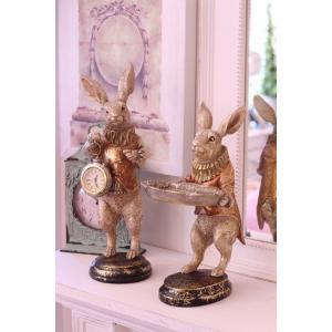 バロッククロック・ラビット ウサギの置時計 置物 シャビー 北欧 フレンチ ロマンティック 可愛い ロココ調 輸入雑貨|style-rococo|05
