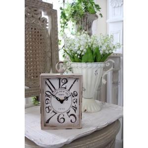 PARIS・レクトスチールクロック(ベージュ)♪ 置時計 シャビーシック フレンチカントリー アンティーク 雑貨 アンティーク風 姫系 antique|style-rococo|05