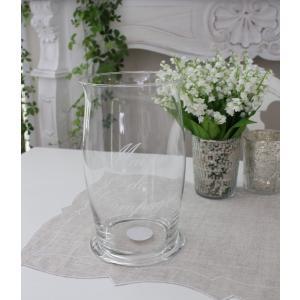 スタイルロココ アンティークなガラス製の花瓶 【フランス コテターブル】 フォトフォール ガラス製 COTE TABLE シャビーシック アンティーク風 アンティーク雑貨 フレンチカントリー 姫系 antique