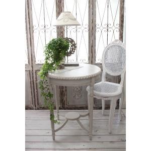 NEW♪ フランス家具 ティーテーブル・アンティークベージュ 机 円形 花台 飾り台 木製 シャビーシック アンティーク調 フレンチカントリー フレンチ|style-rococo