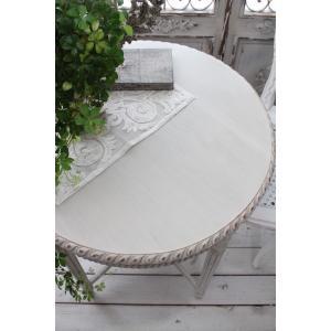 NEW♪ フランス家具 ティーテーブル・アンティークベージュ 机 円形 花台 飾り台 木製 シャビーシック アンティーク調 フレンチカントリー フレンチ|style-rococo|03