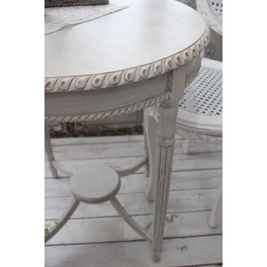 NEW♪ フランス家具 ティーテーブル・アンティークベージュ 机 円形 花台 飾り台 木製 シャビーシック アンティーク調 フレンチカントリー フレンチ style-rococo 05