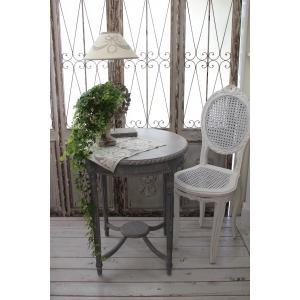 NEW♪ フランス家具 ティーテーブル・アンティークグレー 机 円形 花台 飾り台 木製 シャビーシック アンティーク調 フレンチカントリー フレンチシ|style-rococo