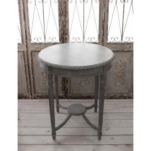 NEW♪ フランス家具 ティーテーブル・アンティークグレー 机 円形 花台 飾り台 木製 シャビーシック アンティーク調 フレンチカントリー フレンチシ|style-rococo|04