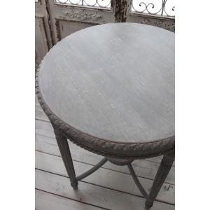 NEW♪ フランス家具 ティーテーブル・アンティークグレー 机 円形 花台 飾り台 木製 シャビーシック アンティーク調 フレンチカントリー フレンチシ|style-rococo|06