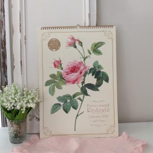 スタイルロココ 2018年  ルドゥーテ 壁掛けカレンダー大判 薔薇の香り付き 平成30年度  14枚つづり 日本製