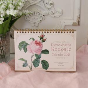 スタイルロココ 2018年  ルドゥーテ 卓上カレンダー 薔薇 平成30年度 ネコポス可 日本製