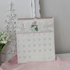 スタイルロココ 2018年  ルドゥーテ 壁掛けカレンダー30cm角 平成30年度  12枚つづり 日本製
