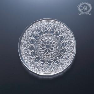 スタイルロココ トルコ製の素敵なガラス食器♪ (プレートSサイズ) ガラスプレート 輸入食器 ガラス製 ケーキ皿 ディナー皿