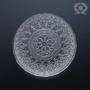 スタイルロココ トルコ製の素敵なガラス食器♪ (プレートMサイズ) ガラスプレート 輸入食器 ガラス製 ケーキ皿 ディナー皿