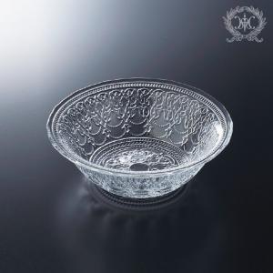 スタイルロココ トルコ製の素敵なガラス食器♪ (ボールMサイズ) ガラスプレート 輸入食器 ガラス製 ケーキ皿 ディナー皿 ガラスボウル