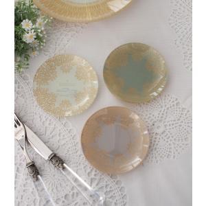 スタイルロココ トリアノン・ガラス食器 ミニプレート3枚セット(ラウンド) ガラス製 小皿 輸入食器 アンティーク風 アンティーク 食器 雑貨 antique ロココ調