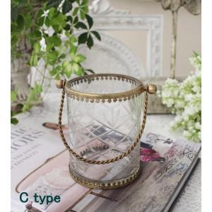 スタイルロココ 猫足のアンティークなグラスハング(取っ手付きC) 小物入れ 花瓶 ペン立て  フレンチカントリー アンティーク 雑貨 輸入雑貨 antique shabby chic