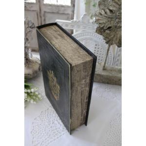 アンティークスタイルのブック型ボックス(Lサイズ) 小物入れ オブジェ フレンチカントリー アンティーク 雑貨 輸入雑貨 antique shabby chic|style-rococo|03