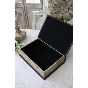 アンティークスタイルのブック型ボックス(Lサイズ) 小物入れ オブジェ フレンチカントリー アンティーク 雑貨 輸入雑貨 antique shabby chic|style-rococo|04