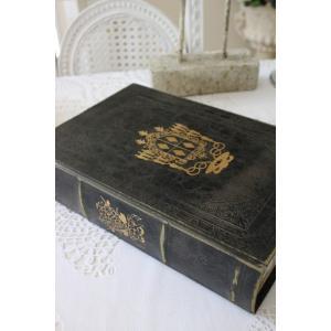 アンティークスタイルのブック型ボックス(Lサイズ) 小物入れ オブジェ フレンチカントリー アンティーク 雑貨 輸入雑貨 antique shabby chic|style-rococo|05