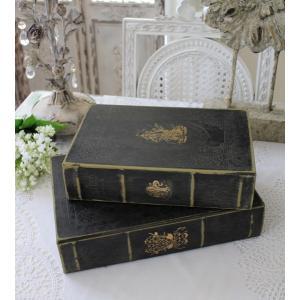 アンティークスタイルのブック型ボックス(Lサイズ) 小物入れ オブジェ フレンチカントリー アンティーク 雑貨 輸入雑貨 antique shabby chic|style-rococo|06