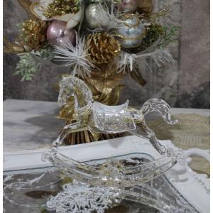 スタイルロココ アクリルホース(木馬の置物) オブジェ クリスマス ディスプレイ シャビーシック フレンチカントリー アンティーク 雑貨 輸入雑貨 antique shabby chic