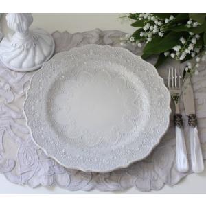 【La Ceramica V.B.C ラ・セラミカ イタリア】 ディナー皿(022) ディナープレート イタリア製 輸入食器 シャビーシック アンティーク風 洋食器|style-rococo|02