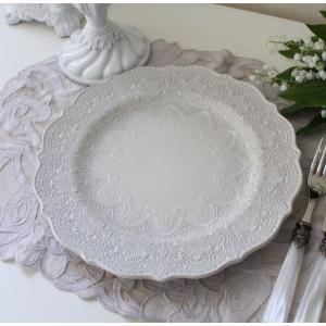 【La Ceramica V.B.C ラ・セラミカ イタリア】 ディナー皿(022) ディナープレート イタリア製 輸入食器 シャビーシック アンティーク風 洋食器|style-rococo|03