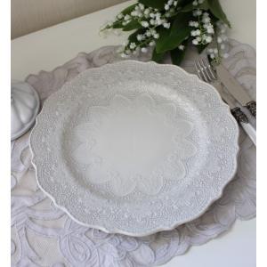 【La Ceramica V.B.C ラ・セラミカ イタリア】 ディナー皿(022) ディナープレート イタリア製 輸入食器 シャビーシック アンティーク風 洋食器|style-rococo|04