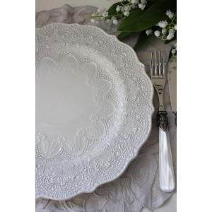 【La Ceramica V.B.C ラ・セラミカ イタリア】 ディナー皿(022) ディナープレート イタリア製 輸入食器 シャビーシック アンティーク風 洋食器|style-rococo|05