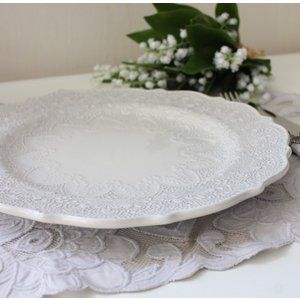 【La Ceramica V.B.C ラ・セラミカ イタリア】 ディナー皿(022) ディナープレート イタリア製 輸入食器 シャビーシック アンティーク風 洋食器|style-rococo|06