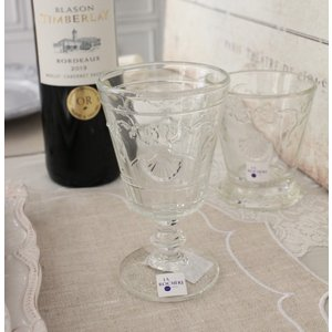 スタイルロココ 【La Rochere】 フランス ラロシェール社製 エレガントに輝くワイングラス200cc ヴェルサイユ ウォーターグラス ガラス食器