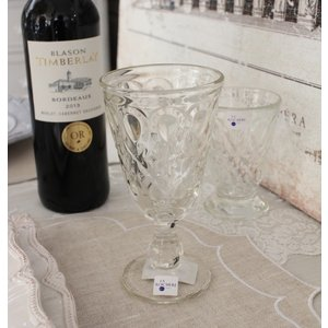 スタイルロココ 【La Rochere】 フランス ラロシェール社製 エレガントに輝くワイングラス230cc リヨネ(クリアー) ウォーターグラス ガラス食器