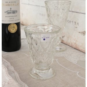 スタイルロココ ガラスコップ グラス(リヨネ・クリアー200cc) 【La Rochere】 フランス製 ラロシェール ウォーターグラス タンブラー ガラス食器 アンティーク風 お洒落