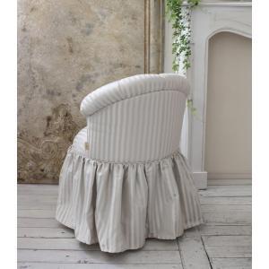 NEW♪♪ ロマンティックなファブリックチェア 【プリマ・ストライプグレー】 スツール 椅子 布張り シャビーシック アンティーク調 フレンチカントリ|style-rococo|04