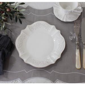 スタイルロココ シャビーシックなフレンチ食器 パリスシリーズ ケーキプレート ケーキ皿 アンティーク風 陶器 白 アンティーク 食器 白い食器 お洒落