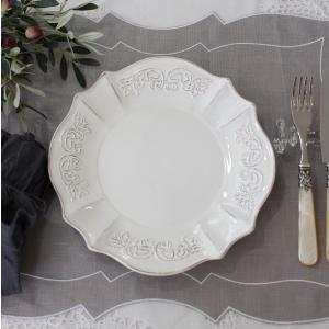スタイルロココ シャビーシックなフレンチ食器 パリスシリーズ ディナープレート ディナー皿 アンティーク風 陶器 白 アンティーク 食器 白い食器 お洒落