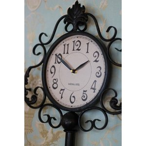 掛け時計♪ アンティーク ラージキー・ウォールクロック アイアンクロック アンティーク調 掛時計 フレンチカントリー シャビーシック french country style-rococo 02