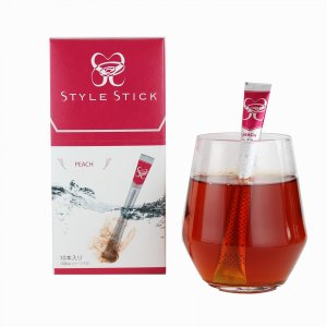 スタイルスティック お手軽 カンタン くるっと混ぜるだけ 紅茶 ピーチティー 10本入 送料無料|style-stick