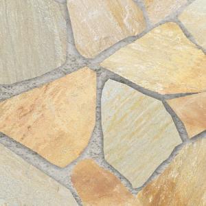 乱形石 自然石 アルビノイエロー アルビノミックス イエロー 乱形 石材 石 黄色 1ケース 販売 ...