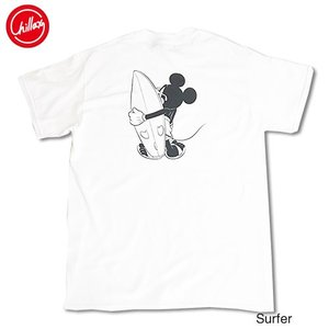 Chillax×Disney Mickey(ディズニー)サーファー ミッキーマウス バックプリント ...