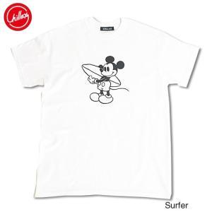 Chillax×Disney Mickey(ディズニー)サーファー ミッキーマウス フロントプリント...
