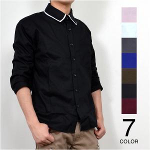 カジュアルシャツ 半袖シャツ シャツ ビッグシルエット 白シャツ 五分 七分 七分袖 メンズ トップス|styleblock