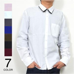 カジュアルシャツ シャツ ビッグシルエット 白シャツ 長袖シャツ メンズ トップス|styleblock