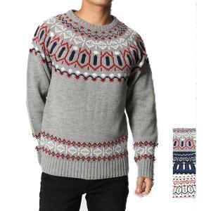 ニット セーター クルーネック メンズ ケーブル編み トップス|styleblock