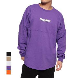 Tシャツ カットソー 長袖 クルーネック ロゴ バックプリント オーバーサイズ ビッグシルエット 綿100% コットン トップス メンズ|styleblock