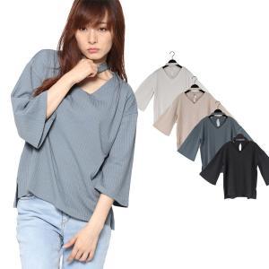 カットソー、Tシャツ フレアスリーブ Vネック レディース|styleblock