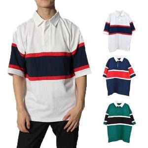 シャツ ラガーシャツ ポロシャツ スポーツ ビッグシルエット 半袖 バイカラー トップス メンズ|styleblock