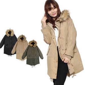 コート モッズコート ハーフコート ミディアムコート 中綿 薄中わた 高密度タフタ 異素材 アウター レディース|styleblock